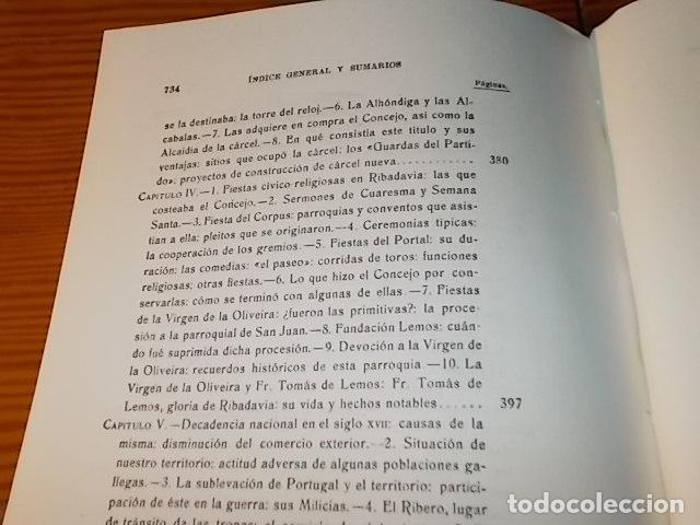 Libros de segunda mano: HISTORIA DE RIBADAVIA Y SUS ALREDEDORES . P. SAMUEL EIJÁN . EDICIÓN FACSÍMIL. 1981 . LUGO - Foto 27 - 218846118