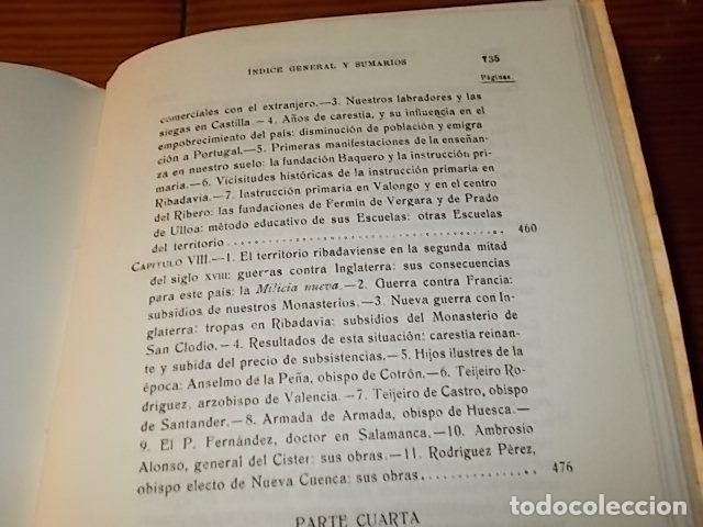 Libros de segunda mano: HISTORIA DE RIBADAVIA Y SUS ALREDEDORES . P. SAMUEL EIJÁN . EDICIÓN FACSÍMIL. 1981 . LUGO - Foto 29 - 218846118