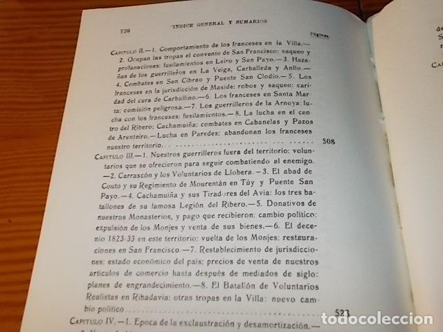 Libros de segunda mano: HISTORIA DE RIBADAVIA Y SUS ALREDEDORES . P. SAMUEL EIJÁN . EDICIÓN FACSÍMIL. 1981 . LUGO - Foto 31 - 218846118