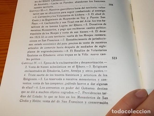 Libros de segunda mano: HISTORIA DE RIBADAVIA Y SUS ALREDEDORES . P. SAMUEL EIJÁN . EDICIÓN FACSÍMIL. 1981 . LUGO - Foto 32 - 218846118
