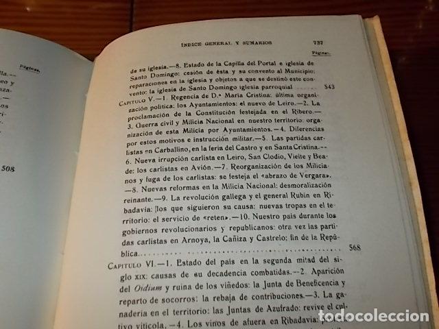 Libros de segunda mano: HISTORIA DE RIBADAVIA Y SUS ALREDEDORES . P. SAMUEL EIJÁN . EDICIÓN FACSÍMIL. 1981 . LUGO - Foto 33 - 218846118