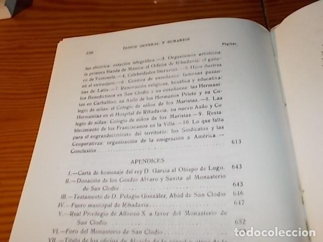 Libros de segunda mano: HISTORIA DE RIBADAVIA Y SUS ALREDEDORES . P. SAMUEL EIJÁN . EDICIÓN FACSÍMIL. 1981 . LUGO - Foto 35 - 218846118