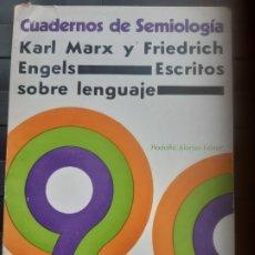 Libros de segunda mano: KARL MARX Y FRIEDRICH ENGELS ESCRITOS SOBRE LENGUAJE. Lote 175723249