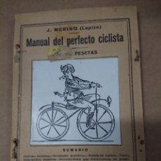 Livres d'occasion: MANUAL DEL PERFECTO CICLISTA. PEQUEÑA ENCICLOPEDIA PRÁCTICA. NUM 22.. Lote 175782782
