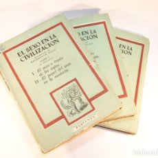 Libros de segunda mano: EL SEXO EN LA CIVILIZACIÓN. 3 TOMOS. VVAA. COLECCIÓN EROS. EDITORIAL PARTENÓN. BUENOS AIRES. 1952.. Lote 175805563