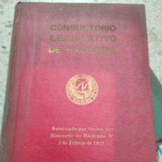 Libros de segunda mano: CONSULTORIA LEGISLATIVA DE HACIENDA. Lote 175850140