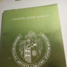 Libros de segunda mano: VICENTE AÑON MARCO. Lote 175874579