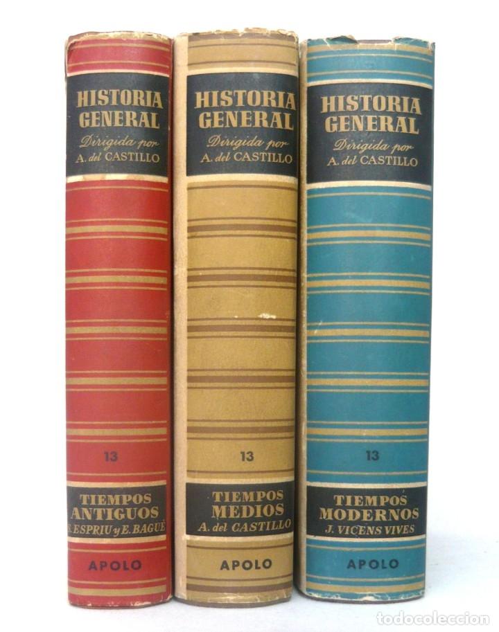 Libros de segunda mano: 1943 - Historia Universal - Completa - 3 Tomos - Mapas Desplegables - H.ª Antigua, Medieval, Moderna - Foto 2 - 175895155