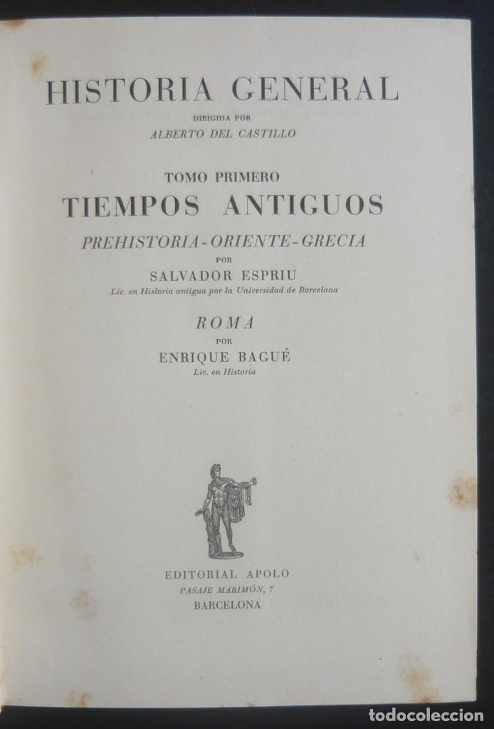 Libros de segunda mano: 1943 - Historia Universal - Completa - 3 Tomos - Mapas Desplegables - H.ª Antigua, Medieval, Moderna - Foto 5 - 175895155