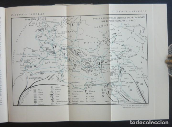 Libros de segunda mano: 1943 - Historia Universal - Completa - 3 Tomos - Mapas Desplegables - H.ª Antigua, Medieval, Moderna - Foto 10 - 175895155