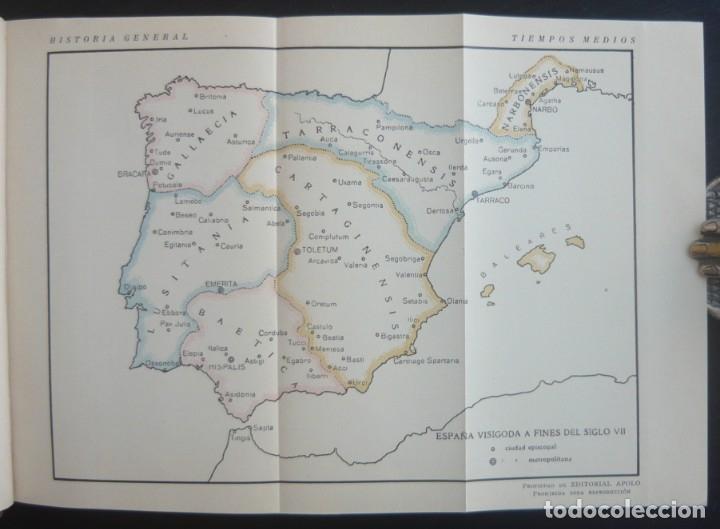 Libros de segunda mano: 1943 - Historia Universal - Completa - 3 Tomos - Mapas Desplegables - H.ª Antigua, Medieval, Moderna - Foto 14 - 175895155