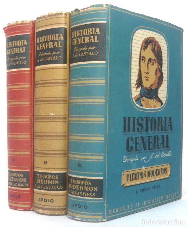 1943 - HISTORIA UNIVERSAL - COMPLETA - 3 TOMOS - MAPAS DESPLEGABLES - H.ª ANTIGUA, MEDIEVAL, MODERNA (Libros de Segunda Mano - Historia - Otros)