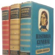 Libros de segunda mano: 1943 - HISTORIA UNIVERSAL - COMPLETA - 3 TOMOS - MAPAS DESPLEGABLES - H.ª ANTIGUA, MEDIEVAL, MODERNA. Lote 175895155