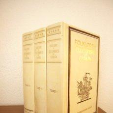 Libros de segunda mano: F. CARRERAS CANDI (DIR.): FOLKLORE Y COSTUMBRES DE ESPAÑA. 3 VOLS. COMPLETO (1988) ED. FACSÍMIL. Lote 175926700
