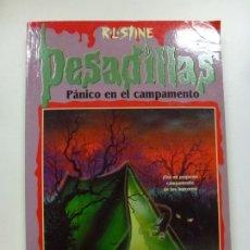 Libros de segunda mano: PESADILLAS. PÁNICO EN EL CAMPAMENTO. R L STINE. EDICIONES B. . Lote 176063814