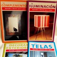 Libros de segunda mano: APRENDER A DECORAR PASO A PASO - LA LUZ, EL ESPACIO, EL COLOR, LOS PAVIMENTOS, LAS TELAS, ETC, ETC... Lote 176110980