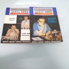 Libros de segunda mano: AJEDREZ 6000, DOS EJEMPLARES: 60, JULIO 1976 Y 62, SEPT 1976.. Lote 176131895