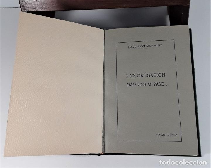 Libros de segunda mano: FOLLETOS SIN REFUTAR. 4 EJEM. EN I TOMO. J. ESCORIAZA. IMP. H. DE ARAGÓN. ZARAGOZA. 1955. - Foto 3 - 176265244