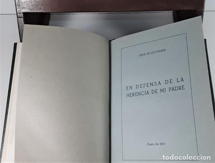 Libros de segunda mano: FOLLETOS SIN REFUTAR. 4 EJEM. EN I TOMO. J. ESCORIAZA. IMP. H. DE ARAGÓN. ZARAGOZA. 1955. - Foto 7 - 176265244