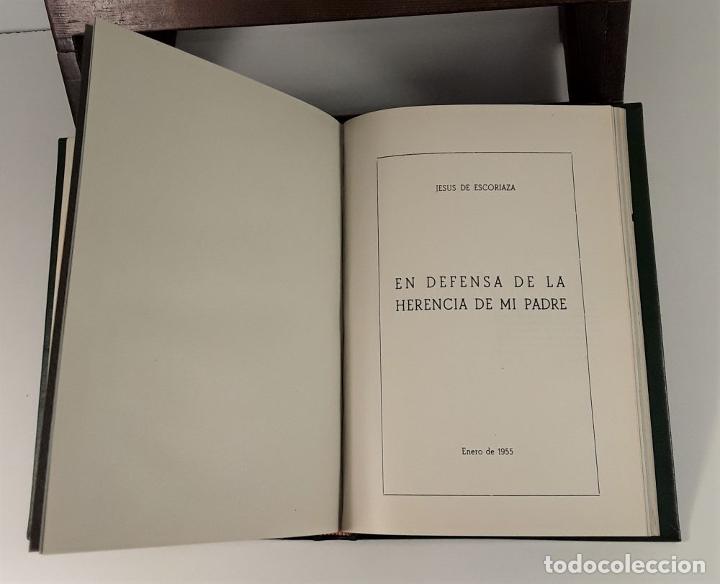 Libros de segunda mano: FOLLETOS SIN REFUTAR. 4 EJEM. EN I TOMO. J. ESCORIAZA. IMP. H. DE ARAGÓN. ZARAGOZA. 1955. - Foto 8 - 176265244