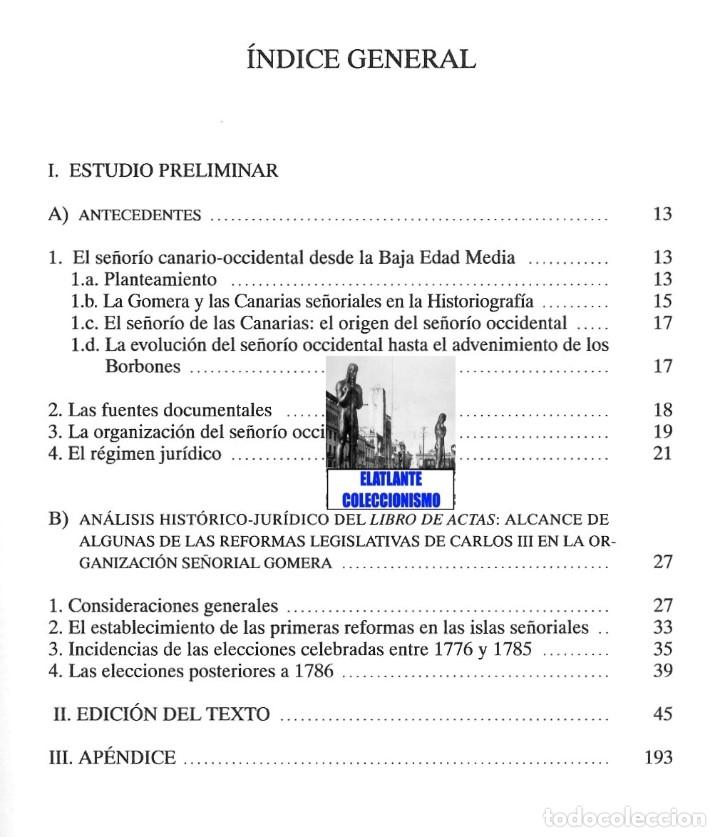 Libros de segunda mano: LIBRO DE ACUERDOS DE CABILDO RELATIVO AL NOMBRAMIENTO DE LOS ALCALDES MAYORES DE LA GOMERA 1775-1816 - Foto 5 - 176394668