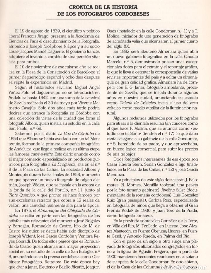 Libros de segunda mano: CRÓNICA DE LA LUZ EXP 41 FOTÓGRAFOS CONTEMPORÁNEOS CÓRDOBA 150 ANIVERSARIO DESCUBRIMIENTO FOTOGRAFÍA - Foto 25 - 176408875