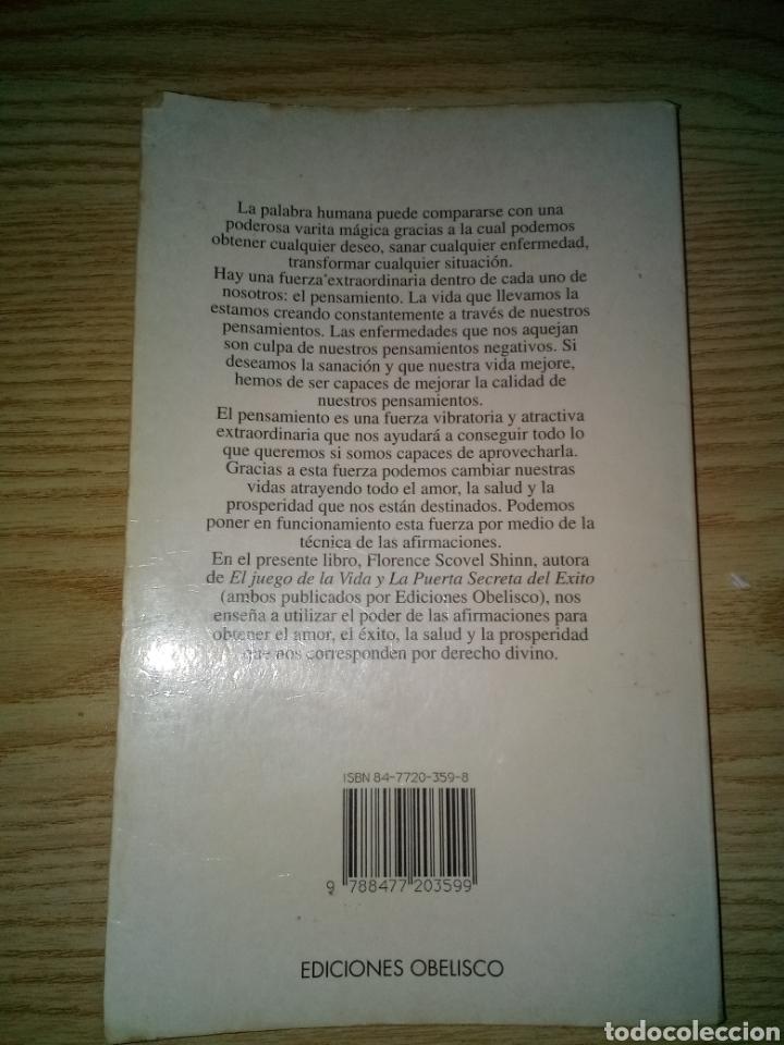 Libros de segunda mano: Tu palabra es una varita mágica, de Florence Scovel Shinn - Foto 2 - 176470633