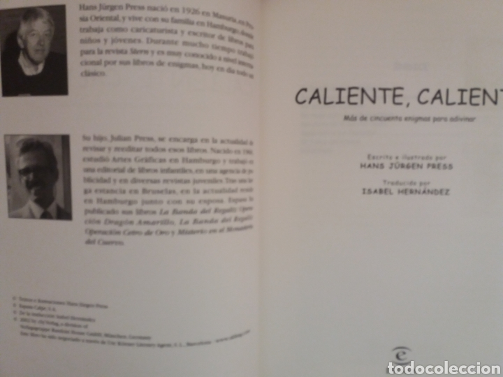 Libros de segunda mano: CALIENTE CALIENTE 8 AVENTURAS Y 50 ENIGMAS PARA RESOLVER DISFRUTANDO - Foto 2 - 176492348