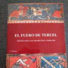 Libros de segunda mano: EL FUERO DE TERUEL - EDICIÓN CRÍTICA CON INTRODUCCIÓN Y TRADUCCIÓN - JOSÉ CASTAÑÉ LLINÁS. Lote 176502654