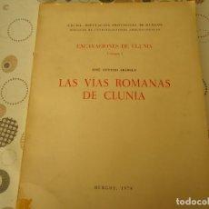 Libros de segunda mano: LAS VIAS ROMANAS DE CLUNIA. Lote 176502798
