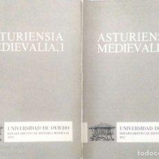 Libros de segunda mano: VV. AA. ASTURIENSIA MEDIEVALIA. 2 VOLS. OVIEDO. 1972-1975.. Lote 176593437
