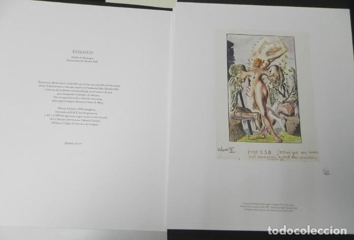 Libros de segunda mano: ENSAYOS DE MONTAIGNE. ILUSTRADOS POR SALVADOR DALÍ. LÁMINAS. EDICIÓN DE LUJO - Foto 3 - 176630510