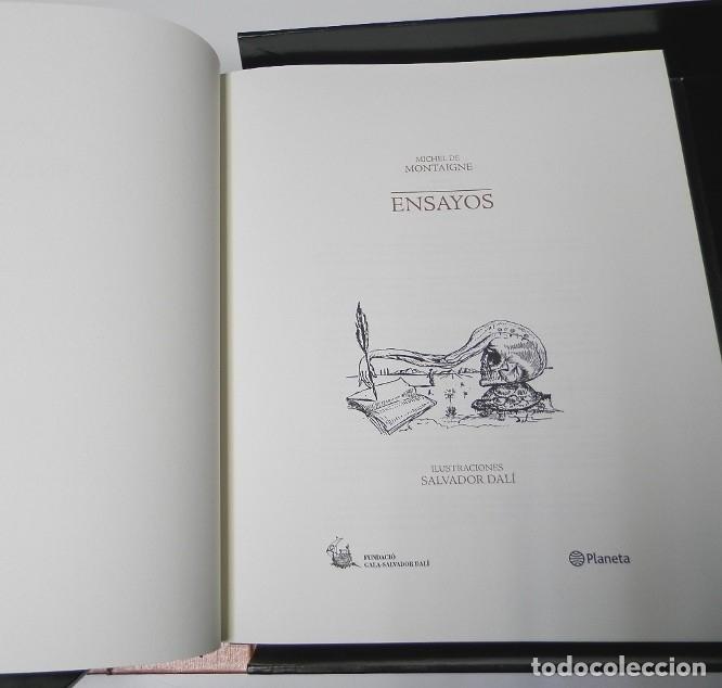 Libros de segunda mano: ENSAYOS DE MONTAIGNE. ILUSTRADOS POR SALVADOR DALÍ. LÁMINAS. EDICIÓN DE LUJO - Foto 6 - 176630510