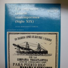 Libros de segunda mano: COLECCIÓN GUAGUA. 64. LA EMIGRACIÓN CANARIA CONTEMPORÁNEA (SIGLO XIX). Lote 176640012