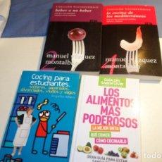 Libros de segunda mano: LOTE 4 LIBROS. CARVALHO GASTRONÓMICO.COCINA PARA ESTUDIANTES. LOS ALIMENTOS MAS PODEROSOS. Lote 176641978