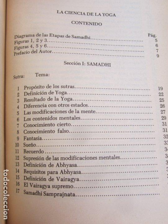Libros de segunda mano: LA CIENCIA DEL YOGA , j. k. taimni, federacion teosofica interamericana , 1983 - Foto 4 - 176727833