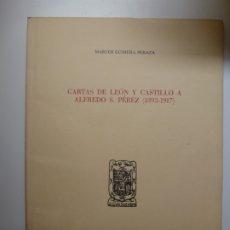 Livros em segunda mão: CARTAS DE LEÓN Y CASTILLO A ALFREDO S. PÉREZ (1893-1917). Lote 176740353