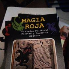 Libros de segunda mano: MAGIA ROJA. LA PIEDRA FILOSOFAL. RECETAS Y SECRETOS MAGICOS. EDICOMUNICACION . Lote 176785190