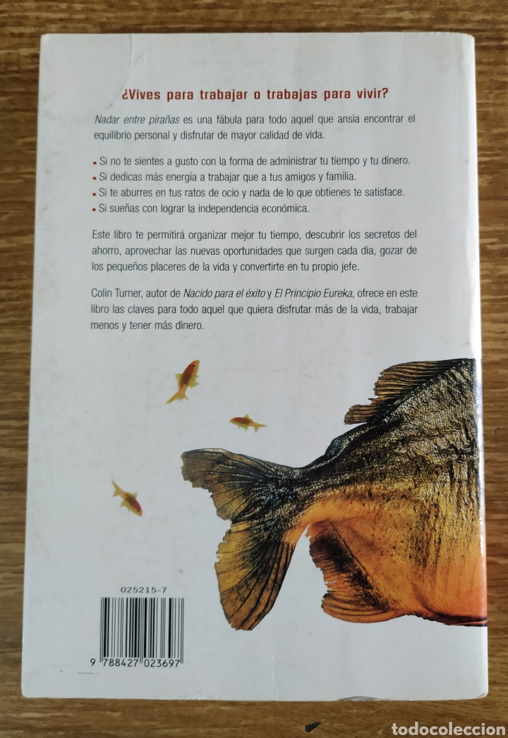 Libros de segunda mano: Libro - Nadar Entre Pirañas (1998) Colin Turner - Foto 2 - 176796064