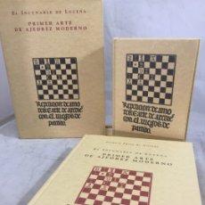Livres d'occasion: EL INCUNABLE DE LUCENA PRIMER ARTE DEL AJEDREZ FACSIMIL DE 1997 POLIFEMO PÉREZ ARRIAGA. Lote 176808408