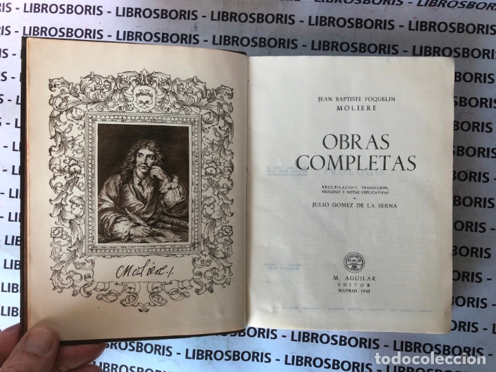 Libros de segunda mano: MOLIERE - OBRAS COMPLETAS - AGUILAR - OBRAS ETERNAS . 1° EDICION - Foto 4 - 189376168