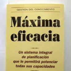 Libros de segunda mano: MÁXIMA EFICACIA, POR BRIAN TRACY. SISTEMA DE PLANIFICACIÓN PARA POTENCIAR SUS CAPACIDADES. Lote 176845828