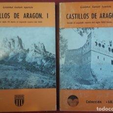 Libros de segunda mano: CRISTOBAL GUITART APARICIO . CASTILLOS DE ARAGÓN I Y II. Lote 176925665