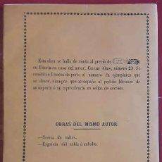 Libros de segunda mano: LIBORIO VENDRELL Y EDUART . ARTE DE ESGRIMIR EL SABLE. Lote 176926368