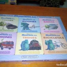 Libros de segunda mano: LOTE DE 6 LIBROS. DISNEY PIXAR. MONSTRUOS. PRIMER APRENDIZAJE. LE FALTA EL CD. EST20B1. Lote 176989437