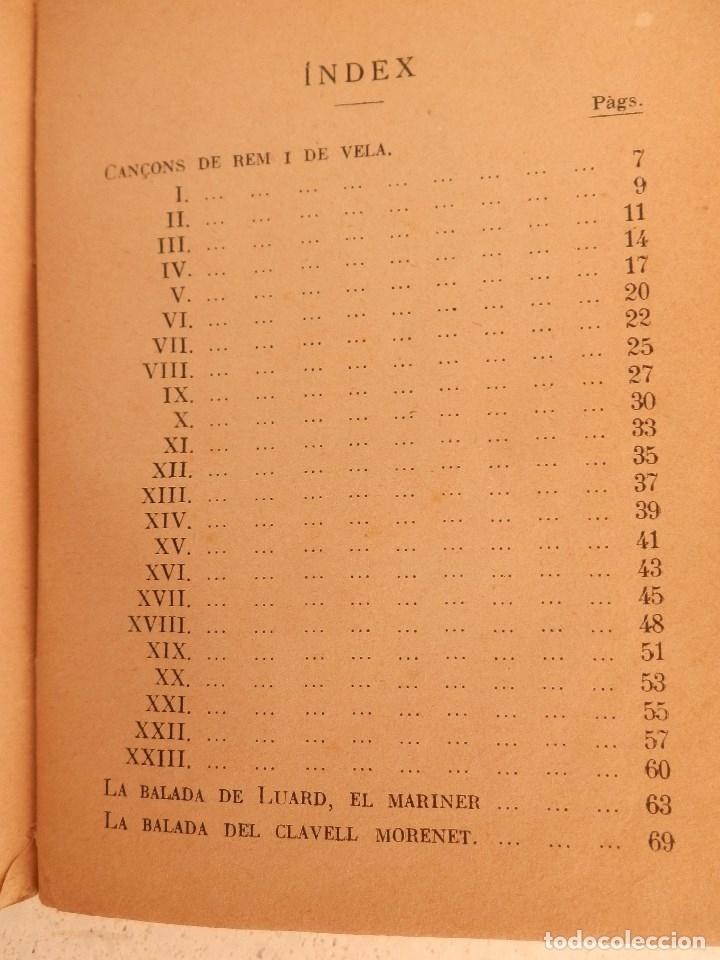 Libros de segunda mano: Cançons de rem i de vela, de Josep Maria de Segarra. Col·lecció Popular nº 4 de Les Ales Esteses. - Foto 2 - 177060745