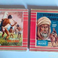 Libros de segunda mano: EDITORIAL MOLINO - DOS NOVELAS SALGARI Y MAY. Lote 177116980