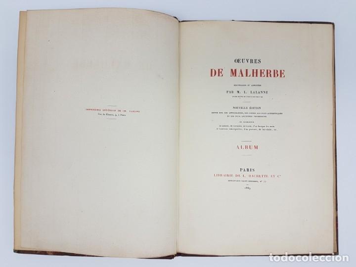 Libros de segunda mano: OUVRES DE MALHERBE ALBUM,PARIS 1869 ( COPIA DE CARTAS ) 6 HOJAS - Foto 3 - 177176770