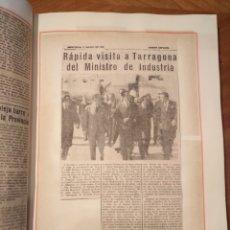 Libros de segunda mano: LIBRO GRAN FORMATO RECORTES DE PRENSA ENERO A DICIEMBRE 1968 RECORTES DE PRENSA TARRAGONA.. Lote 177230254