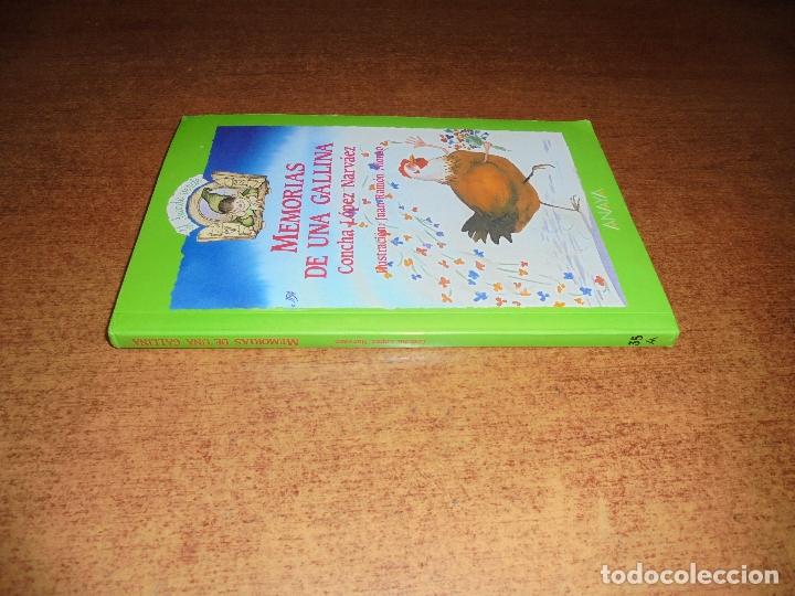 Libros de segunda mano: MEMORIAS DE UNA GALLINA (LÓPEZ NARVAEZ, C.) ILUSTRACIONES JUAN RAMÓN ALONSO. - Foto 3 - 177328194